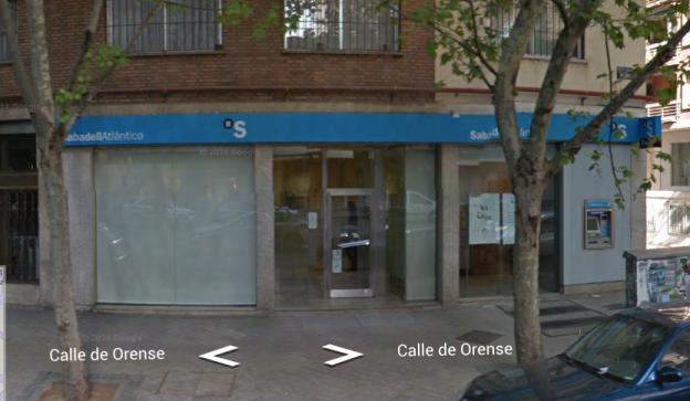 Banc Sabadell Calle Orense