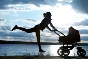 Running baby stroller