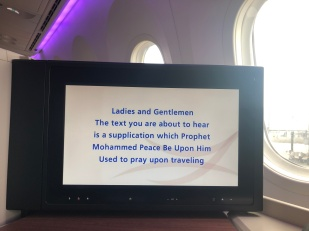 Saudi prayer before takeoff